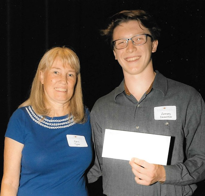 2015 Friends of Green Spring Scholarship winner Zachary Schauffler